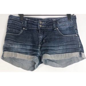 Papaya jean shorts L button pockets
